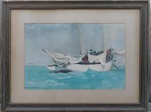 HOMER -KEY WEST 1903 FRAME PRINT