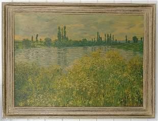 Vintage Claude Monet Banks Of The Seine Litho-Print