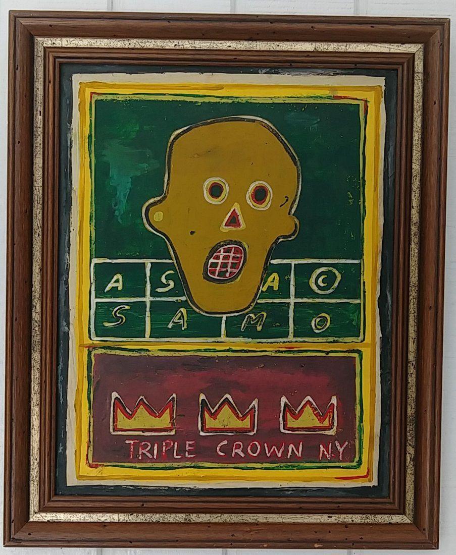 Jean-Michele Basquiat NYC Street SAMO Painting Framed