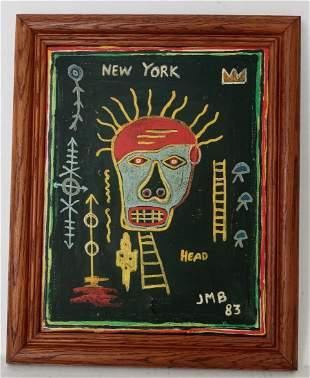 Jean-Michele Basquiat - Head - Samo Painting