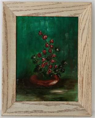 1956 Unsigned Oil Painting on Masonite