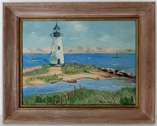 Edgartown Harbor Light lighthouse Massachusets Painting