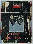 Jean-Michele Basquiat SAMO CROWN Painting