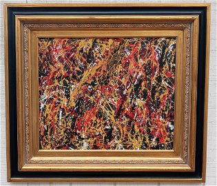 XXL JACKSON POLLOCK After ,ABSTRACT MODERNIST PAINTING