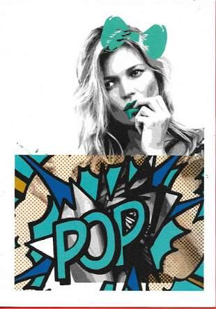 Death NYC Pop Art Lithograph W/ COA Gold Seal
