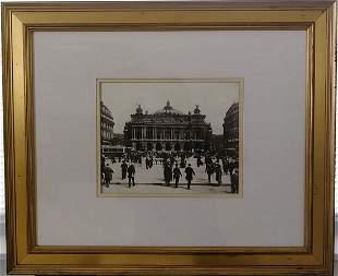 Paris Street Engraving Print Framed