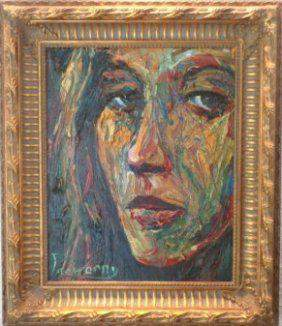 Extra thick impasto Figurative Oil Painting Signed