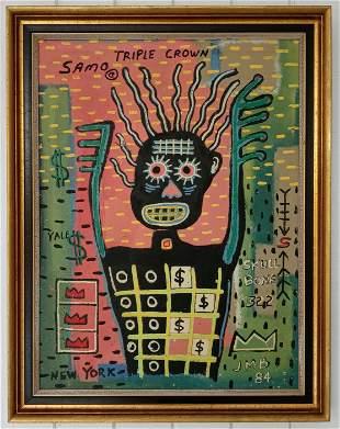 Jean-Michele Basquiat - Triple Crown- Samo Painting