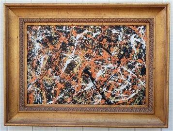 Jackson Pollock Abstract Painting.
