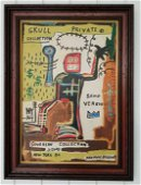 Jean-Michele Basquiat - Private - Painting Framed