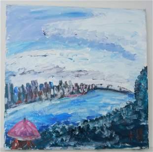 Robert Sunholm. NYC Modern Plain Air Abstract Painting