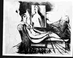 1966 Photo -Le Peintre et son Model by Pablo Picasso