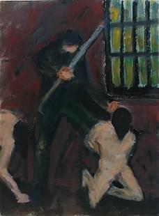 1969 Woodstock Impressionist Ralph Neaderland Oil Paint