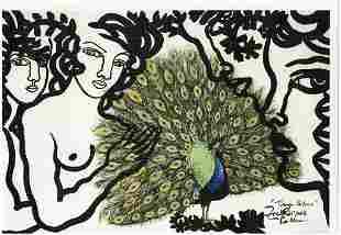 Zaida Del Rio Litho on Thick Paper