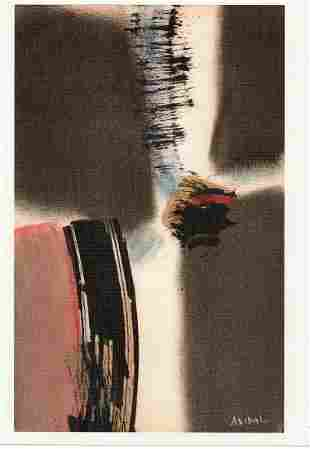 Antonio Vidal Litho on Thick Paper