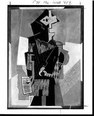 1992 Photography Pablo Picasso Harlequin with Violin