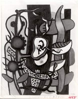 """1954 Photo Painting """"Nature Morte"""" by Fernand Leger"""