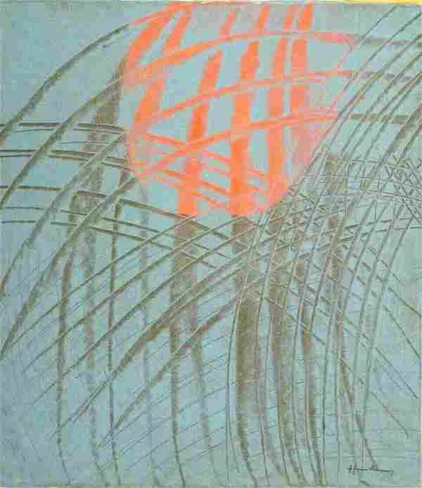Signed Hans Hartung Modern Art 20th Century Modern Pain
