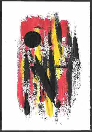 Modern Abstract Surrealist Non Objective NY Painting