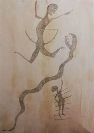 Bill Taylor Outsider Artist Painting on Paper