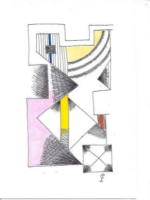 Original Abstract Figurative New York Painting
