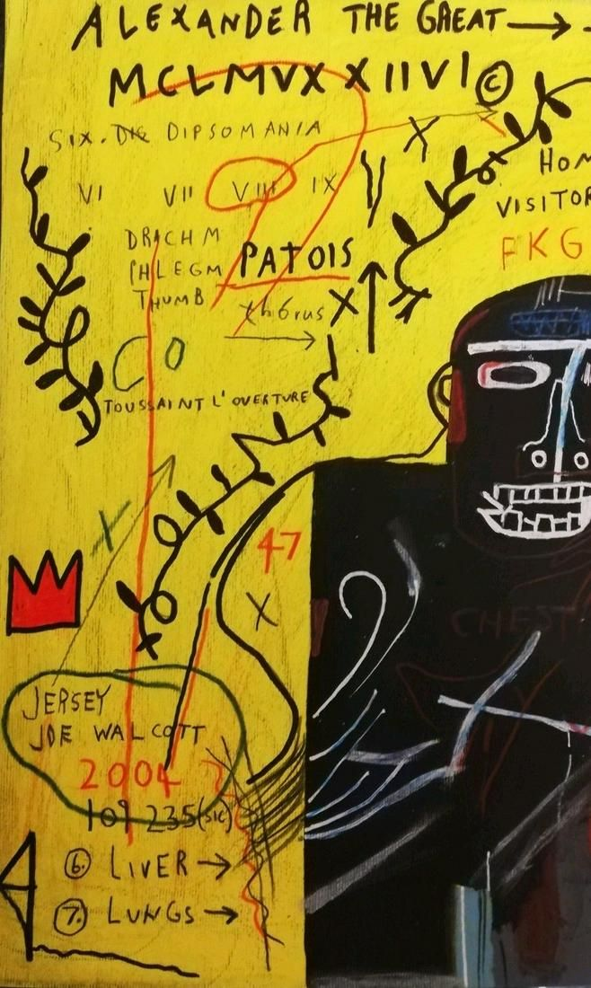 Jean-Michele Basquiat - Painting on Thick Paper