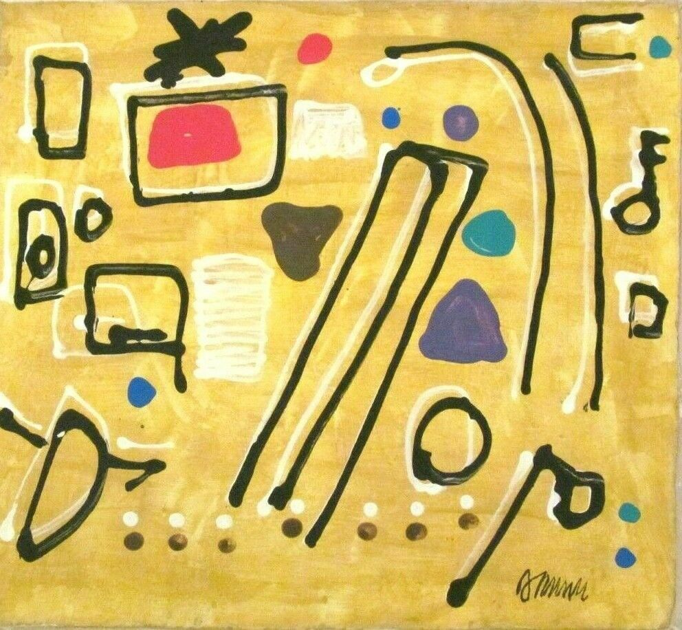 Signed Willi Baumeister 20th Century Modern Painting