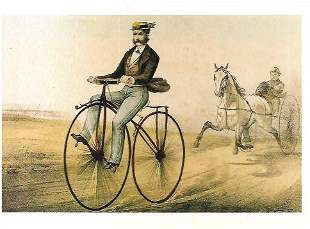 Courier & eves Trading Card-The velocipede Museum of NY