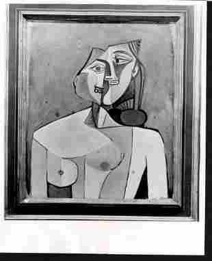 1954 Photo Woman Torso by Pablo Picasso