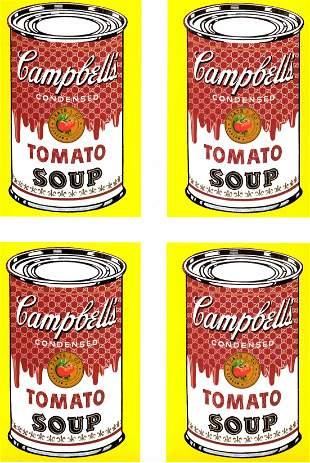 Pop Art Lithograph Art Print Warhol Tomato Soup