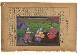 Persian Maharajah Haren Romantic Painting