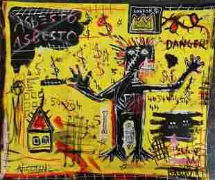 Michel Basquiat- Asbestos- Painting Drawing