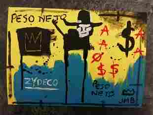 Michel Basquiat- Peso Neto - Painting Drawing