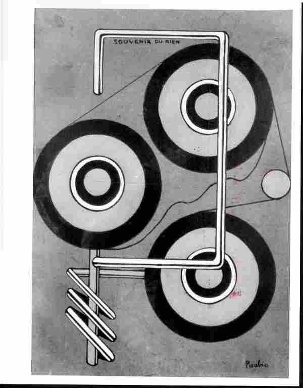 1975 Francis Picabia Souvenir du Rien Photography.