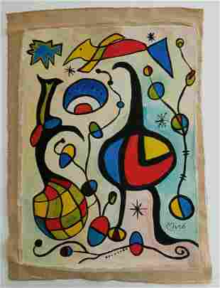 Signed Miro Modern Art 20th Century Modern Painting