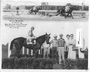 Winner Horse Racing Track 1950's And 60's. Photography