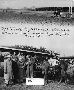 Winner Horse Racing Track 1950\'s And 60\'s.