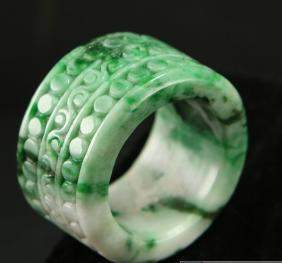 Unique Master Carved Imperial Green Natural Untreated J