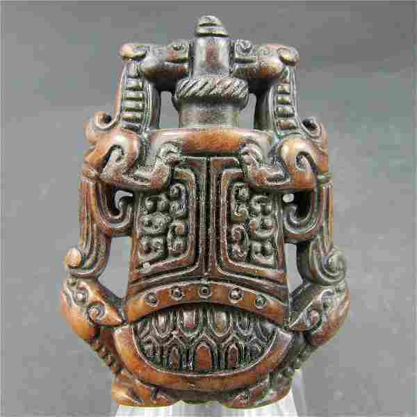 Antique Chinese Carved Natural Jade Sculpture