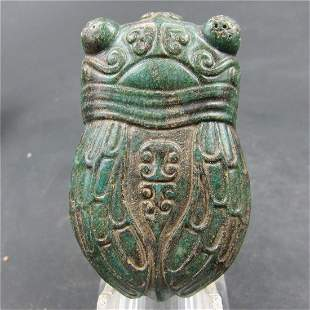 Antique Chinese Jade Hand-Carved Medallion