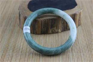 Certificated Natural Green Jade Hand-Carved Bracelet Gr