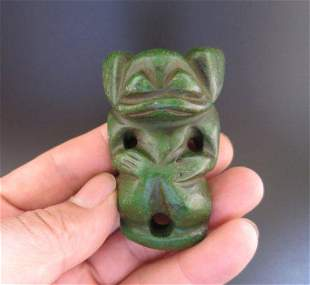 Antique Chinese Hongshan Turquoise-Jade Statue