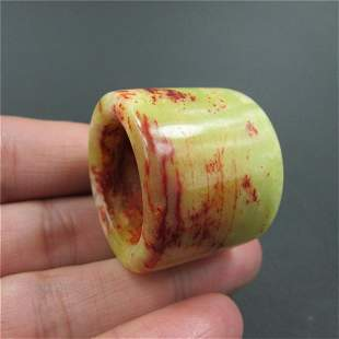 Antique Chinese Carved Natural Jade Jadeite Ring