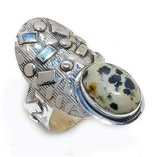 Dalmation Jasper Gemstone Handmade 925 Sterling Silver
