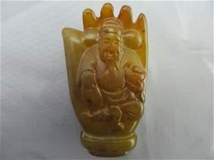 Antique Chinese Hand Buhdda Statue Pendant