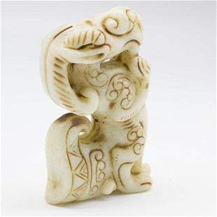 Antique Carved Chinese Jade Sheep Statue