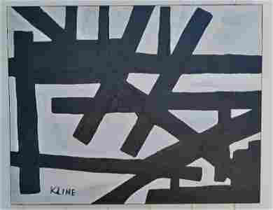 XX Large Franz Kline Abstract Expressionism Painting