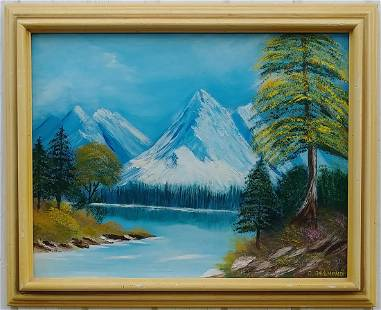 Manning Park Canada Plain Air Oil Painting on Canvas