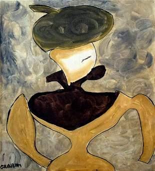 Signed Graham 20th Century Modern Painting