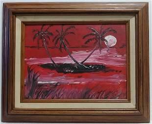 Signed G. Edward Framed Seascape Painting